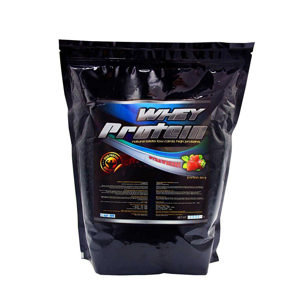 Купить протеин сывороточный для набора мышечной массы вкус клубника - в интернет магазине спортивного питания в Украине - tvoy-prot.com.ua - отзывы, цена, состав, как принимать