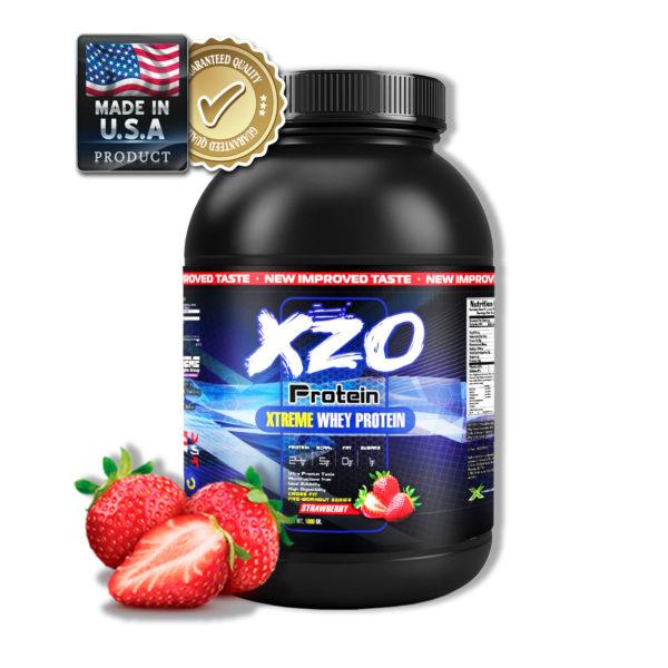 Купить сывороточный протеин-комплексный протеин с бсаа- XZO Nutrition вкус клубника - в интернет магазине спортивного питания В Украине Tvoy-Prot - отзывы, цена, состав, как принимать,