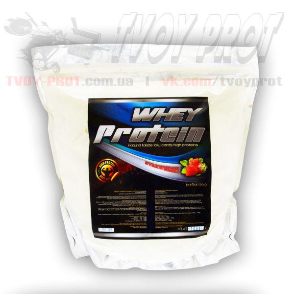 Для набора мышечной массы - протеин сывороточный с высоким содержанием белка купить в Украине от венгерского производителя вкус клубника
