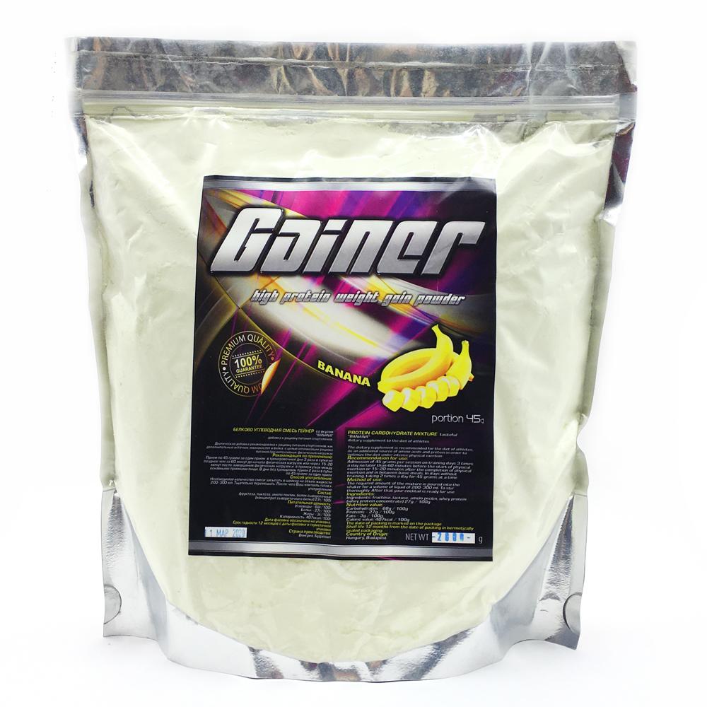 Купить Gainer гейнер для набора массы, вкус банан в интернет магазине спортивного питания в Украине tvoy-prot.com.ua - отзывы, цена, как принимать, состав