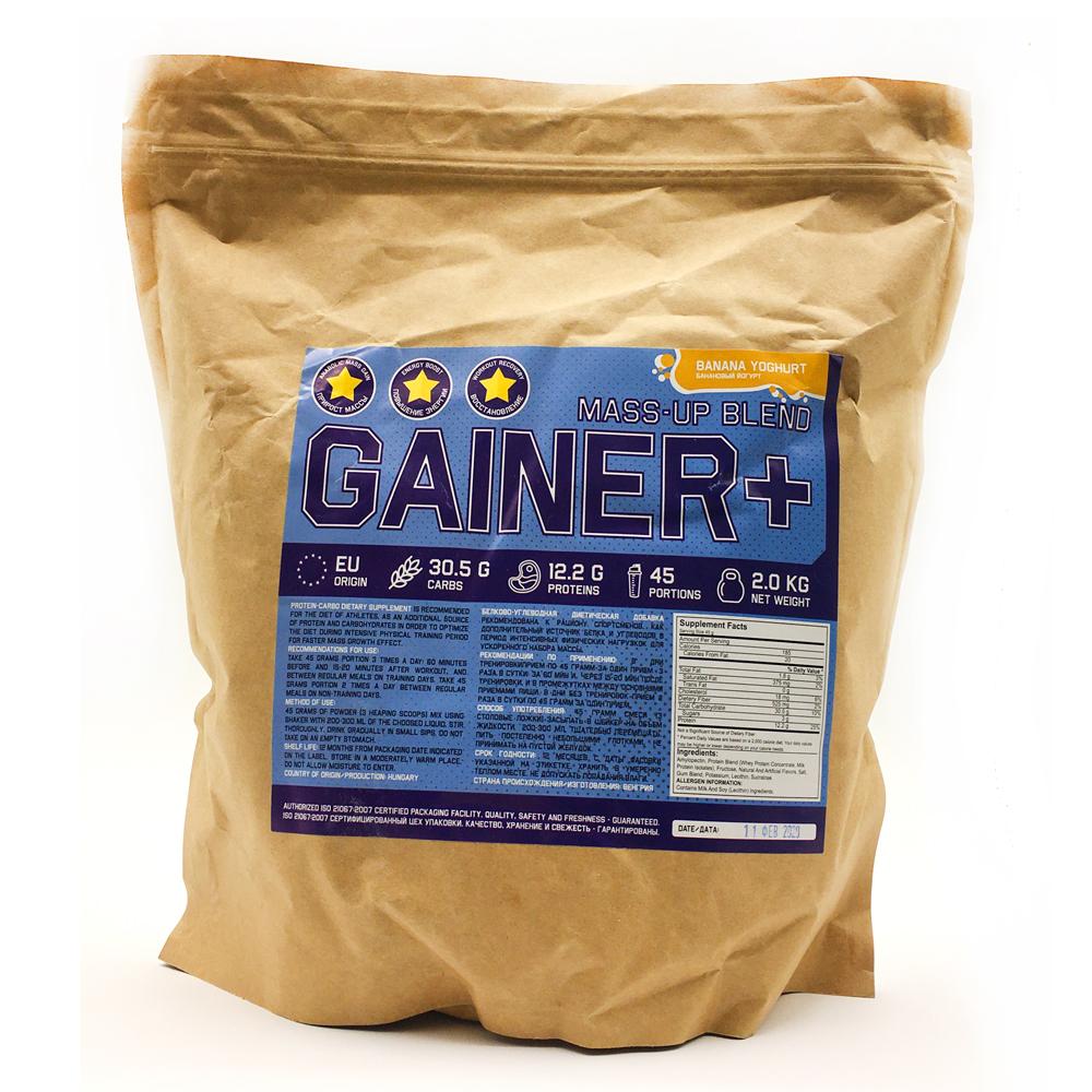 Купить Gainer гейнер для набора массы, вкус банановый йогурт в интернет магазине спортивного питания в Украине tvoy-prot.com.ua - отзывы, цена, как принимать, состав