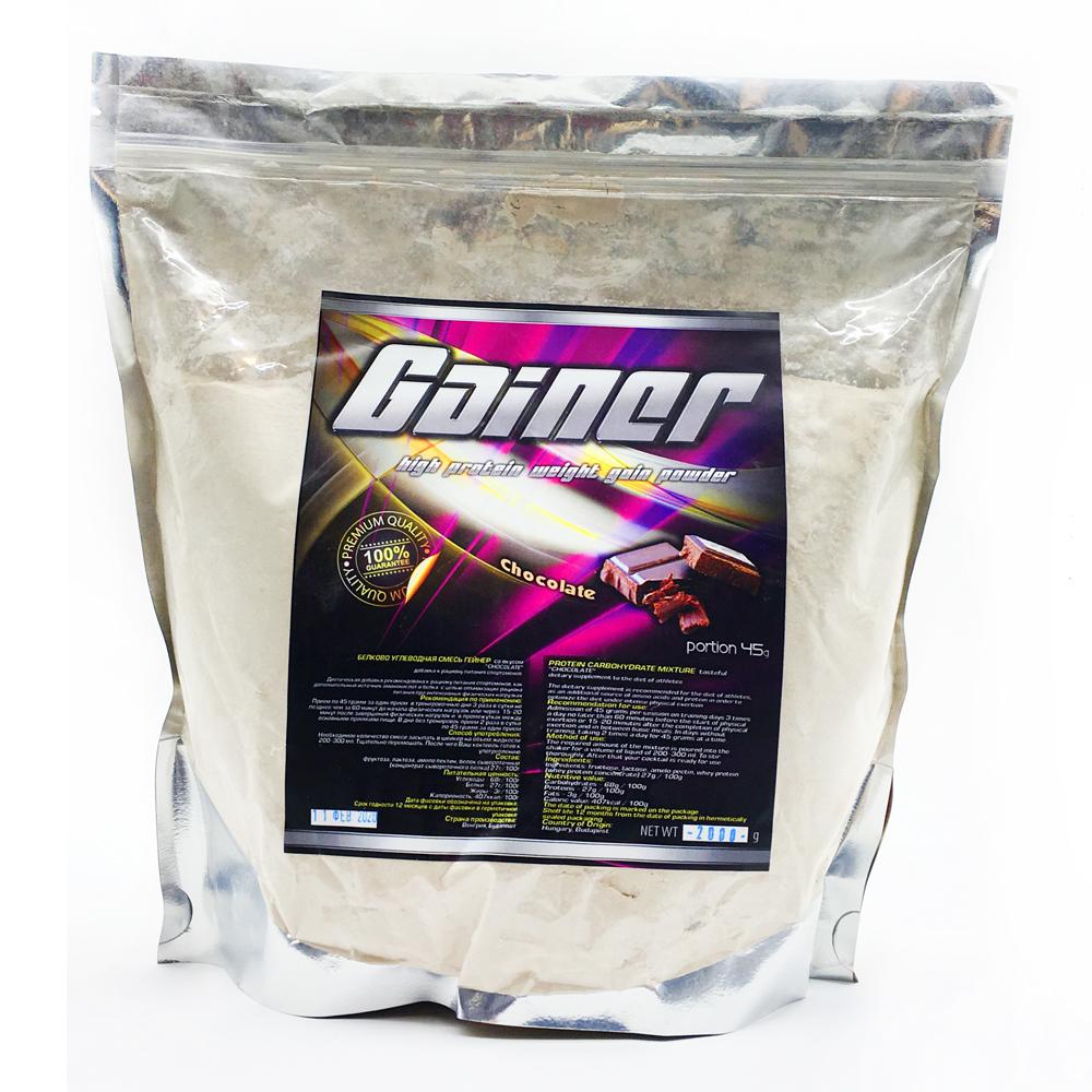 Купить Gainer гейнер для набора массы, вкус шоколад в интернет магазине спортивного питания в Украине tvoy-prot.com.ua - отзывы, цена, как принимать, состав