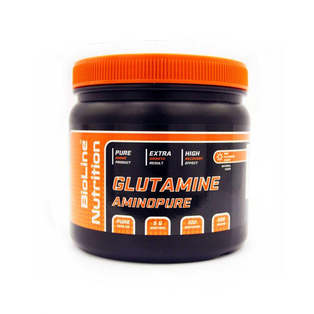 Купить аминокислоты Л-Глютамин - глутамин (L-Glutamine) BioLine Nutrition в интернет магазине спортивного питания Tvoy-Prot.com.ua отзывы, цена, состав, как принимать, как проверить, аптека