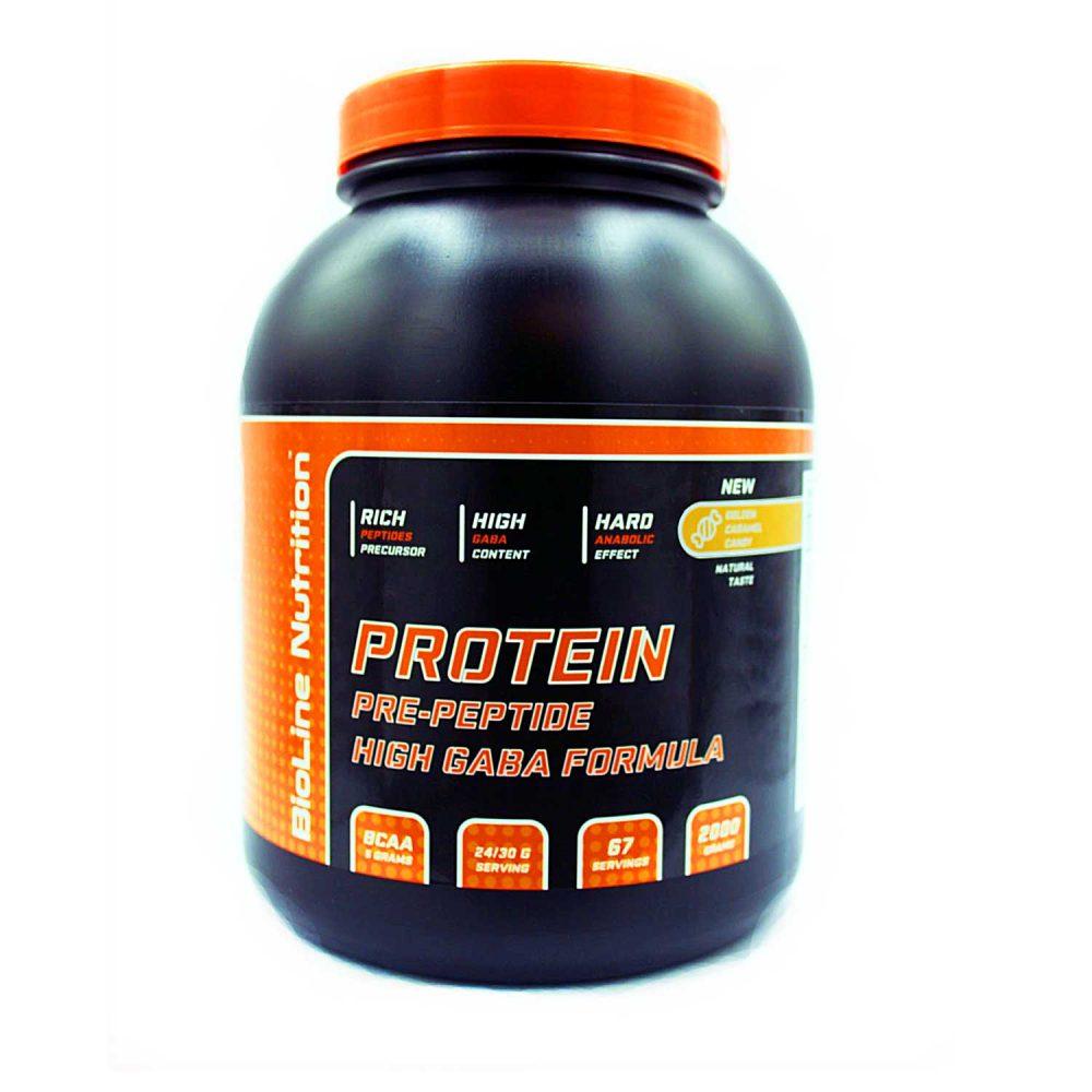 Купить BioLine Nutrition Protein + GABA - протеин + габа, для набора мышечной массы, вкус ирис карамель в интернет магазине спортивного питания в Украине tvoy-prot.com.ua - цена, как принимать