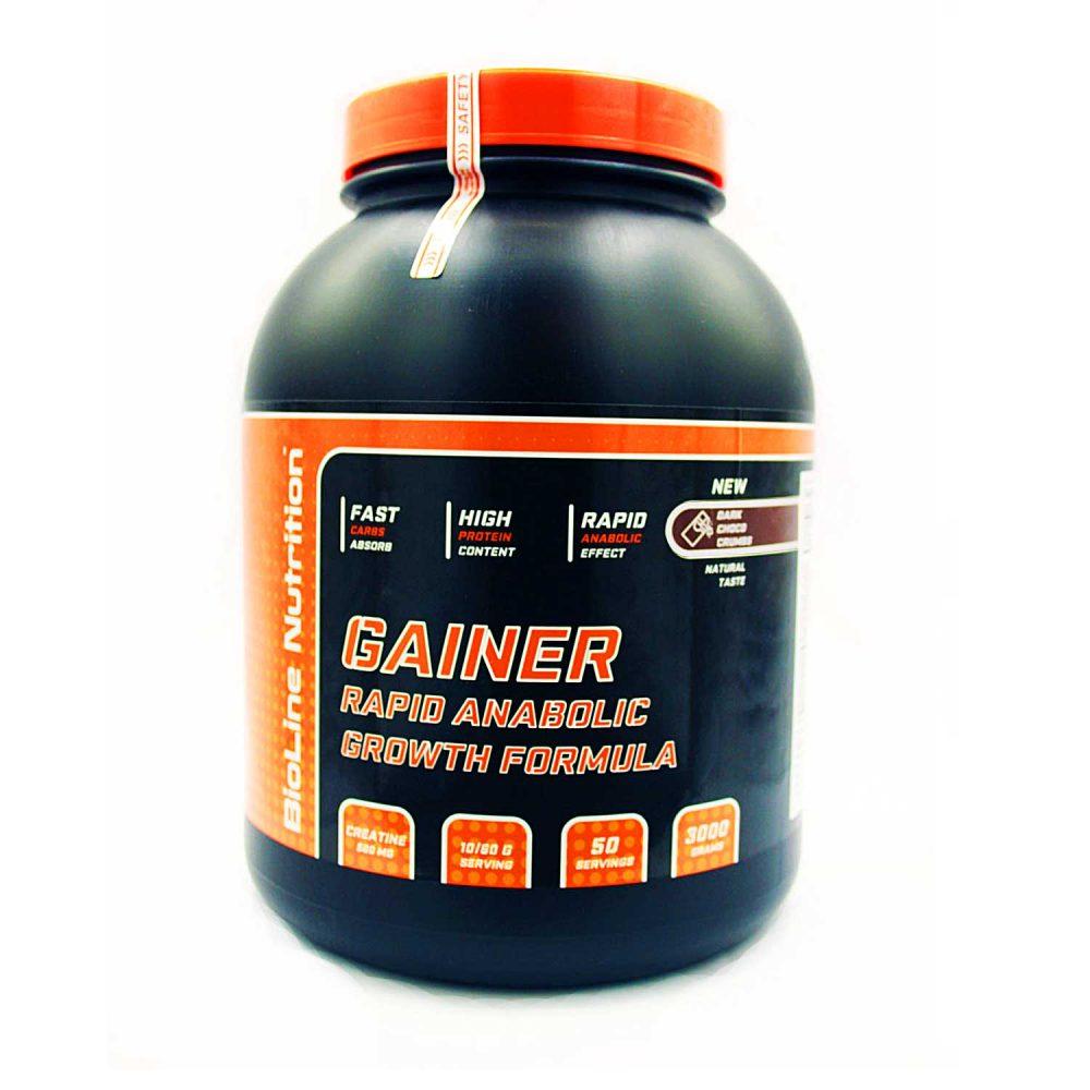 Купить Gainer Rapid Anabolic гейнер для набора массы BioLine Nutrition вкус черный шоколад в интернет магазине спортивного питания в Украине tvoy-prot.com.ua - отзывы, цена, как принимать