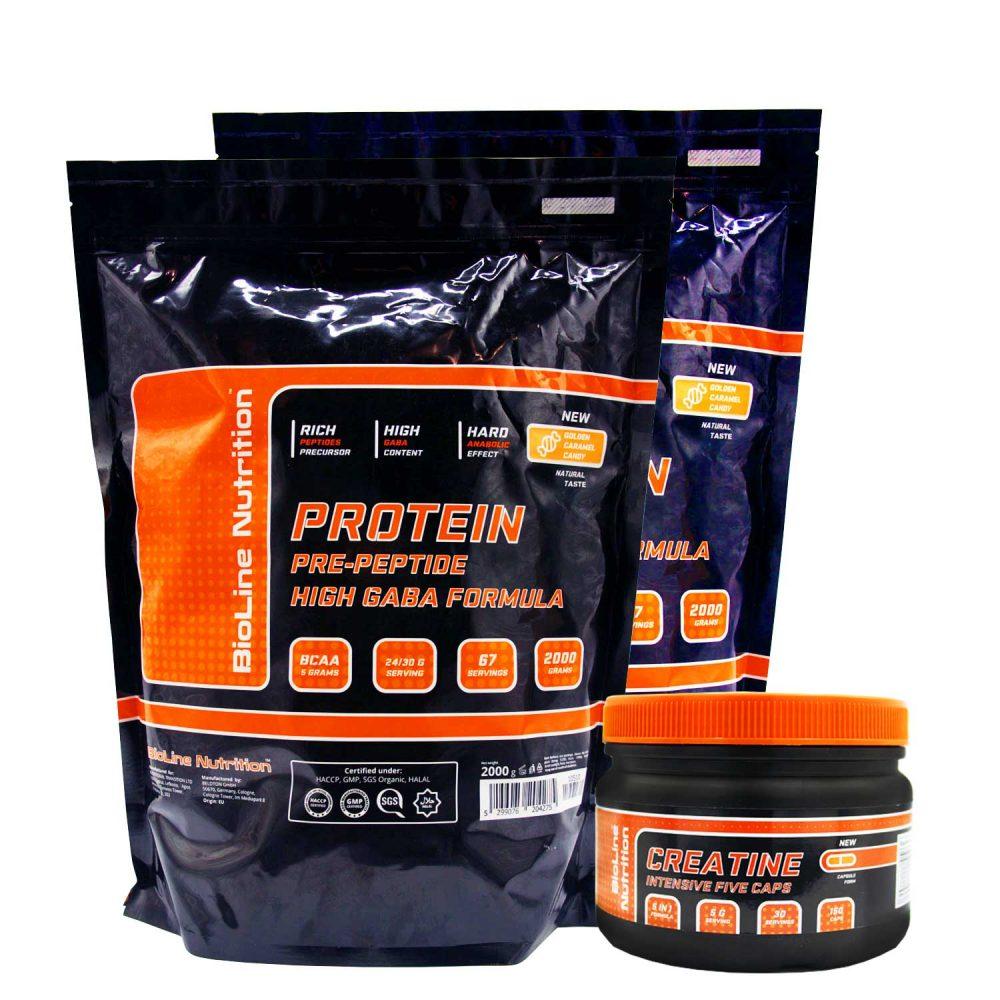 Акции и скидки на спортивное питание в Украине - BioLine nutrition - купи 4 кг. Протеина сывороточного - получи 300 г. креатина в подарок!