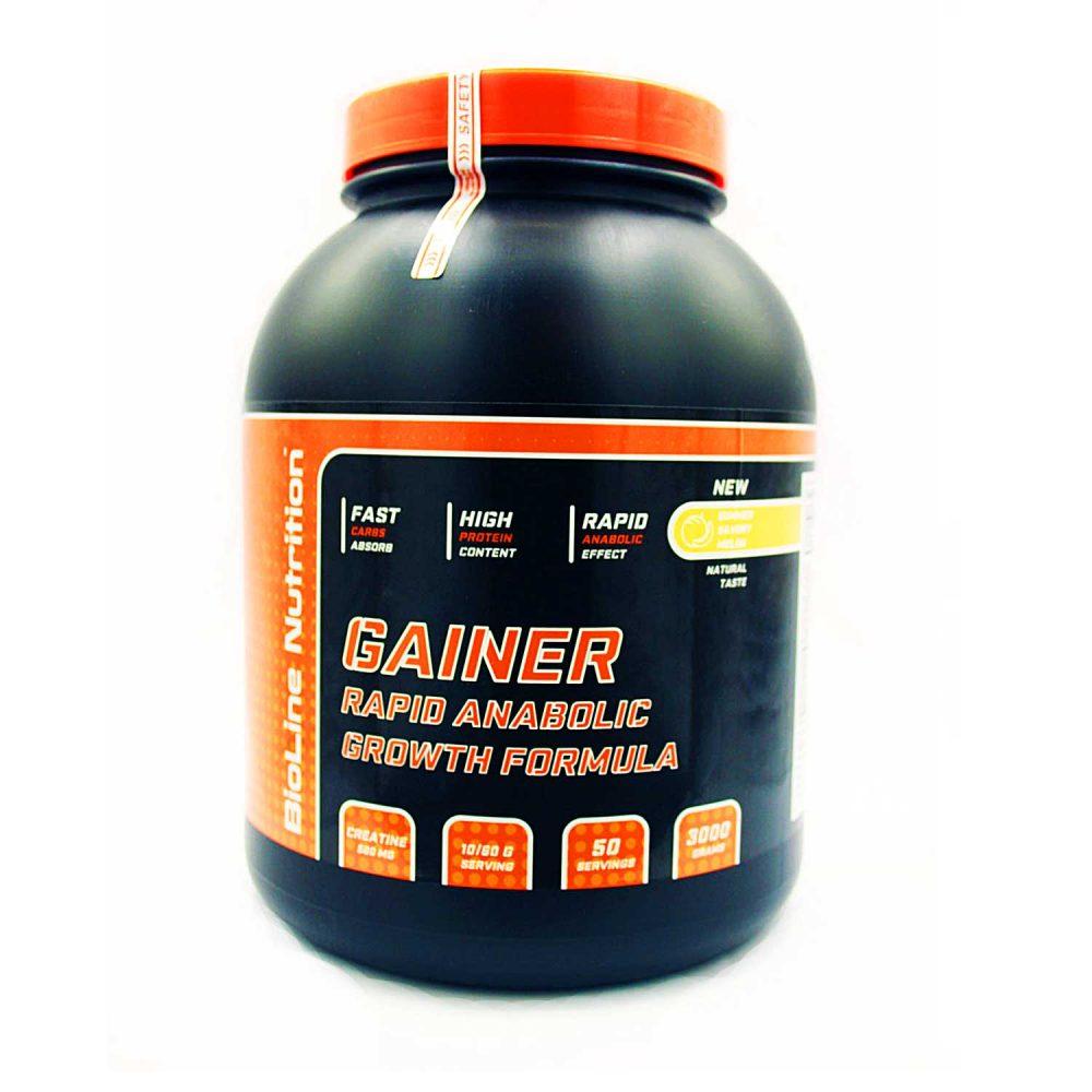 Купить Gainer Rapid Anabolic гейнер для набора массы BioLine Nutrition вкус банан в интернет магазине спортивного питания tvoy-prot.com.ua