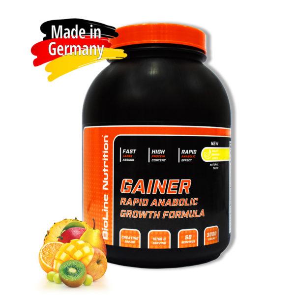 Купить Gainer Rapid Anabolic гейнер для набора массы BioLine Nutrition вкус мультифрукт в интернет магазине спортивного питания tvoy-prot.com.ua - отзывы, цена, состав