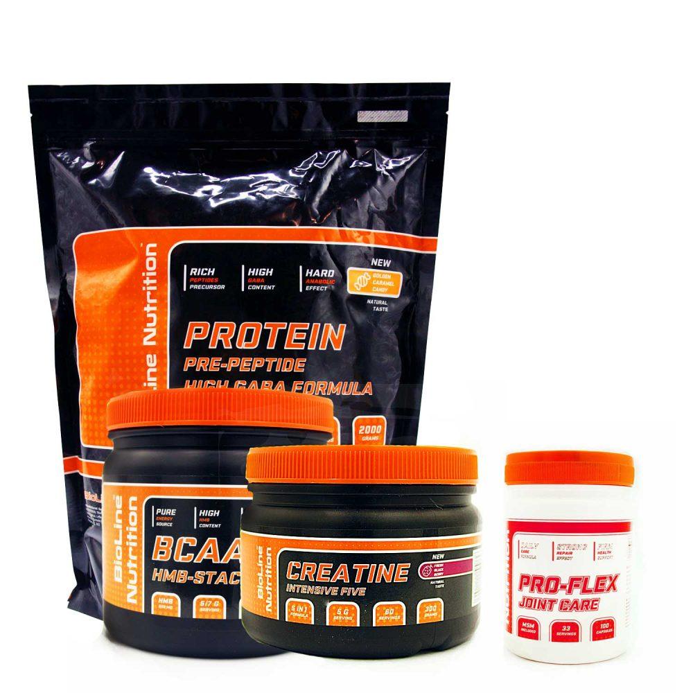 Набор спортивного питания для начинающих. Купить набор для набора мышечной массы для девушек в магазине Tvoy-prot.com.ua