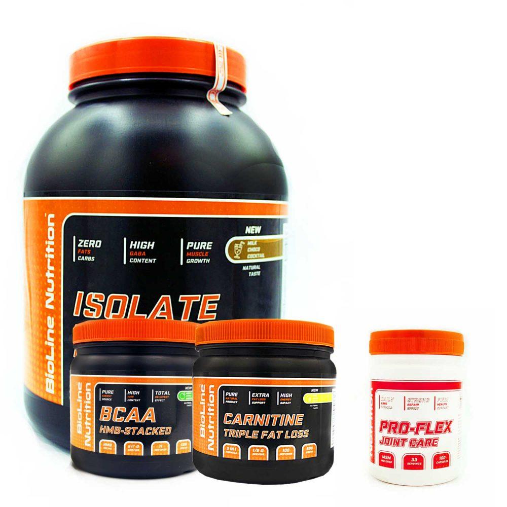 Купить набор спортивного питания для роста мышц, сушки и восстановления суставов и связок от BioLine Nutrition tvoy-prot.com.ua