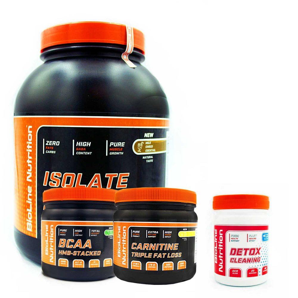 Купить набор спортивного питания для роста мышц очистка организма от BioLine Nutrition tvoy-prot.com.ua