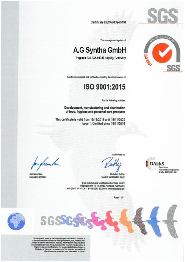 Документы сертификаты качества на спортивное питание в Украине Bio LIne Nutrition Germany- tvoy-prot.com.ua - ISO