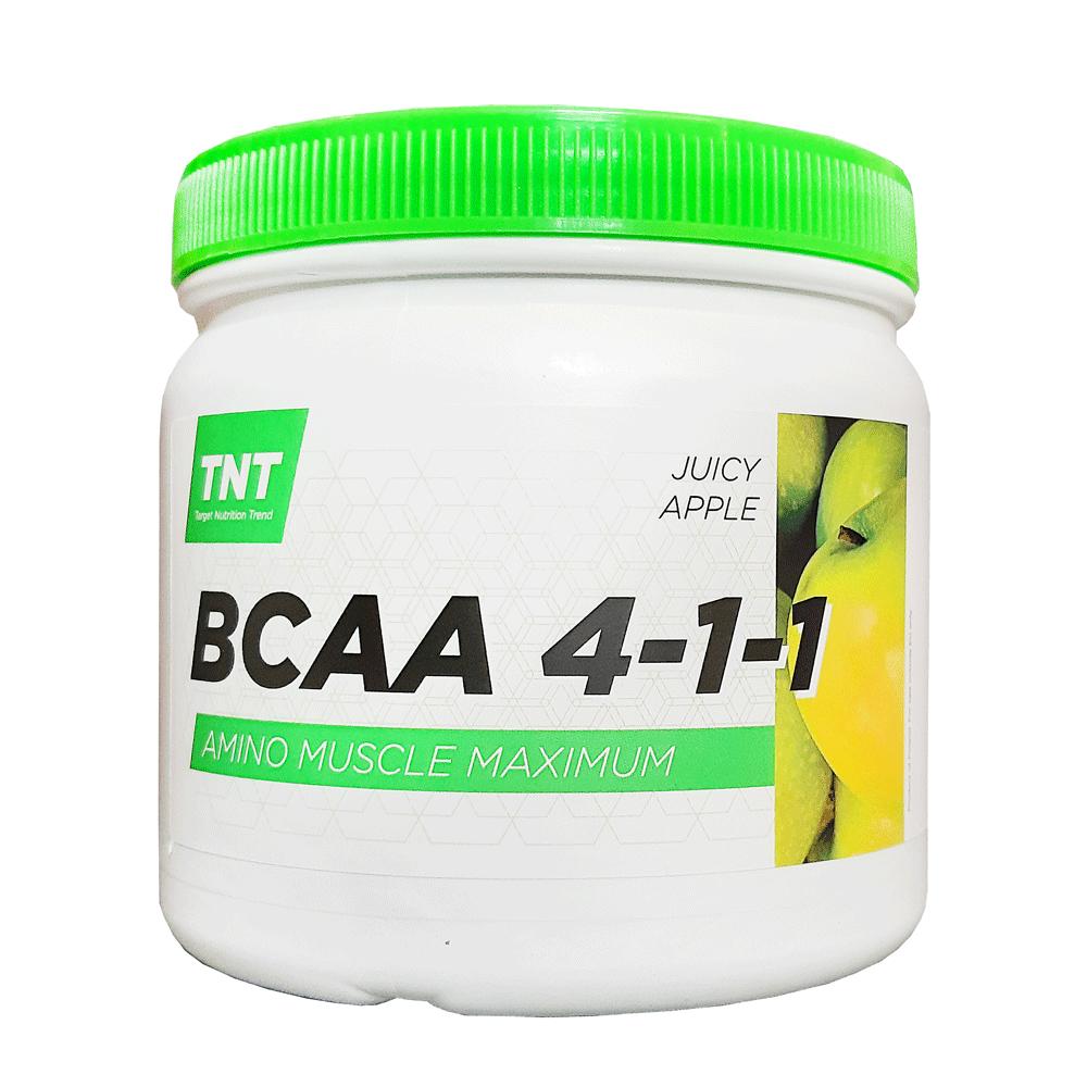 Купить аминокислоты ВСАА 4:1:1 для роста мышц TM TNT (Target Nutrition Trend) вкус: сочное яблоко. цена, фото, состав, отзывы на сайте tvoy-prot.com.ua