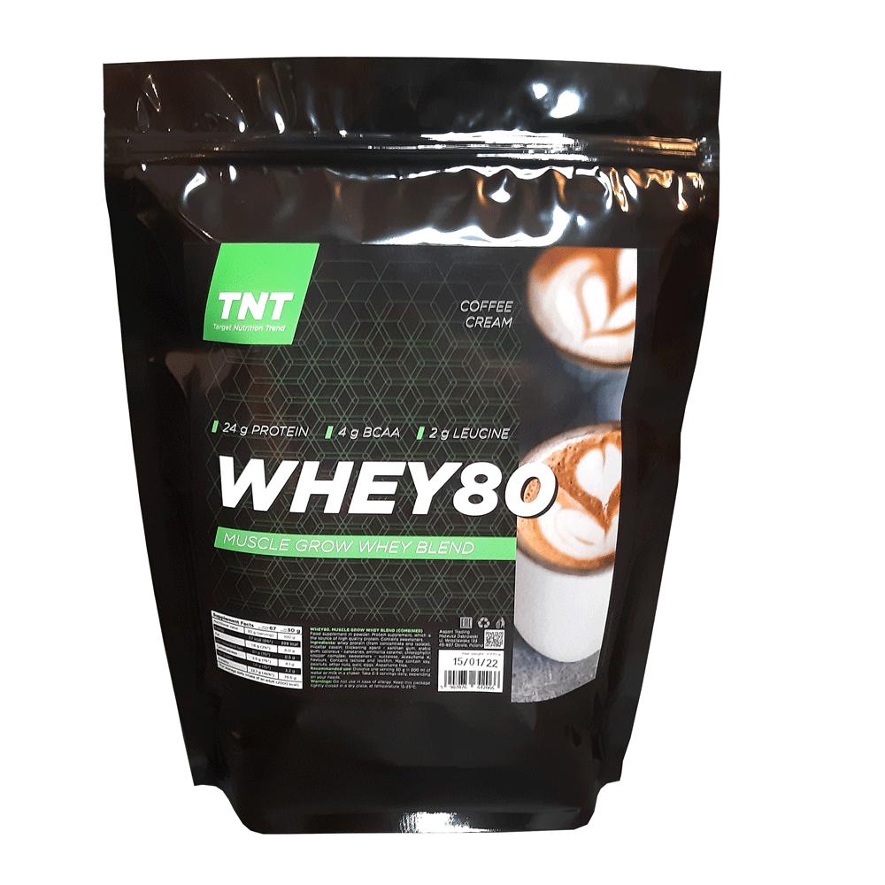 Купить протеина для роста мышц TM TNT (Target Nutrition Trend) вкус: кофейный крем Whey 80 цена, фото, состав, отзывы на сайте tvoy-prot.com.ua