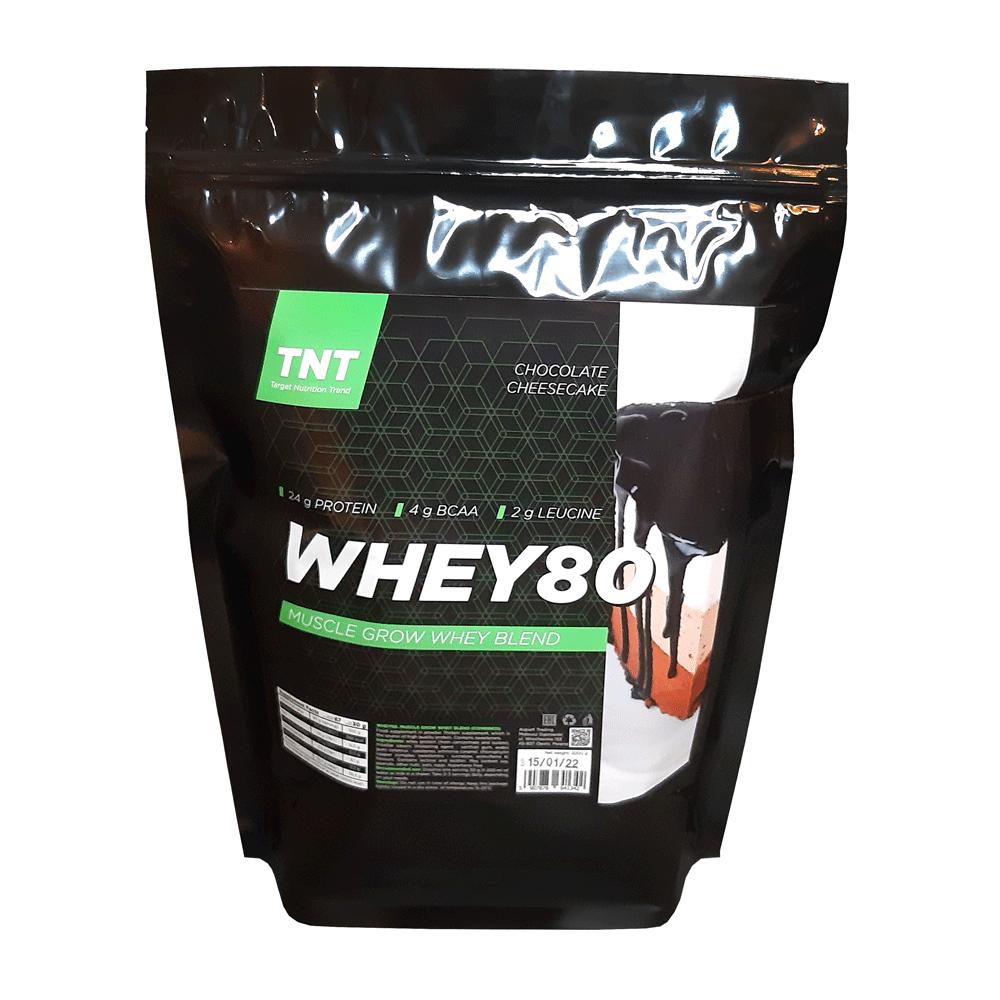 Купить протеина для роста мышц TM TNT (Target Nutrition Trend) вкус: шоколадный чизкейк Whey 80 цена, фото, состав, отзывы на сайте tvoy-prot.com.ua