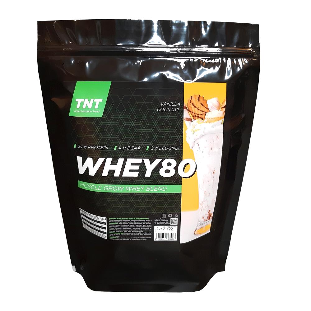 Купить протеина для роста мышц TM TNT (Target Nutrition Trend) вкус: ванильное печенье Whey 80 цена, фото, состав, отзывы на сайте tvoy-prot.com.ua