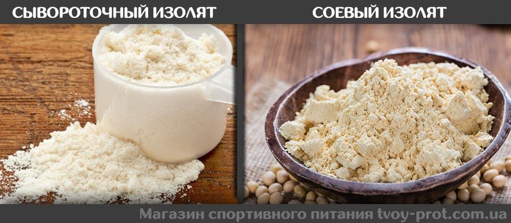 Изолят сывороточного протеина и соевого - Купить в Киеве и Украине спортивное питание TVOY PROT